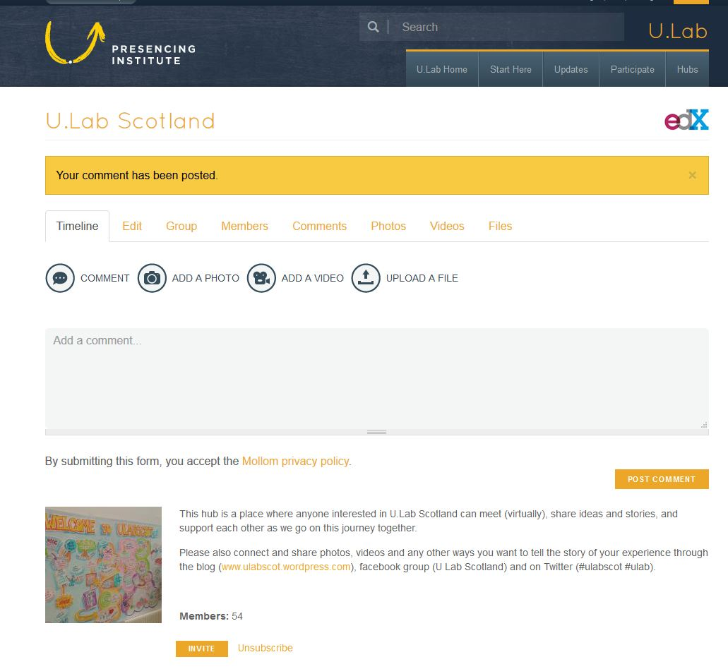 screenshot of PI Scotland Hub