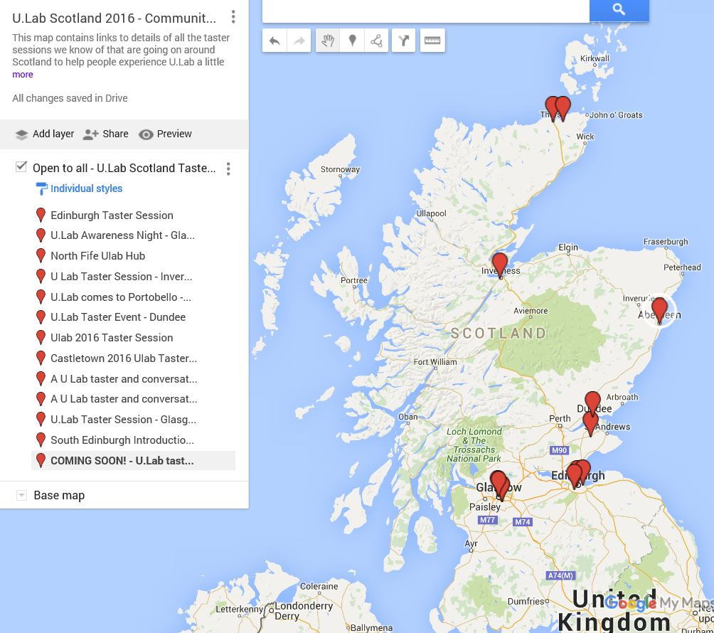 ulabscot - U.Lab Taster Sessions 2016 Map